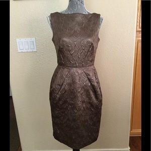 Banana Republic Bronze Metallic Sheath Dress